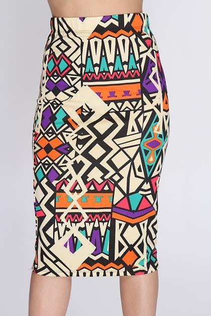 tribal patterned mini skirt tribal print skirt dressed up girl