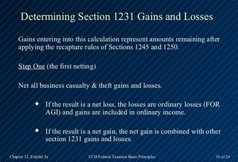 section 1231 gains and losses 2013 cch basic principles ch12