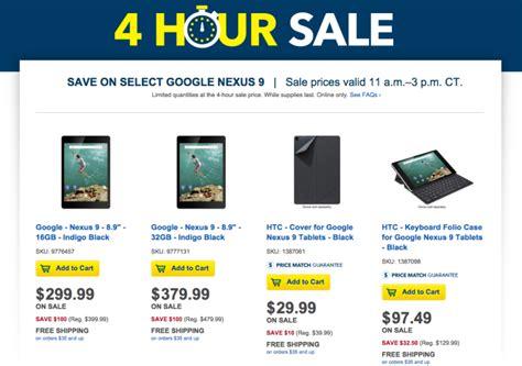 nexus tablet best buy deal up a nexus 9 for 100 from best buy
