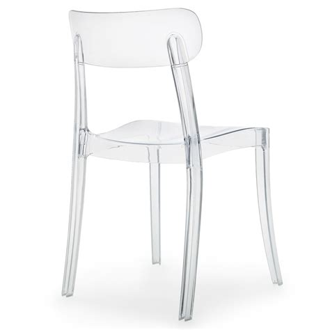 Polycarbonate Dining Chairs Transparent Polycarbonate Novo Dining Chair Set Zuri Furniture