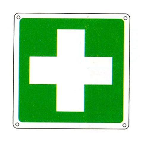 simbolo cassetta pronto soccorso cartello con simbolo infermeria