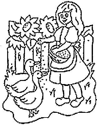 feeding ducks coloring page transmissionpress feeding the ducks kids coloring pages