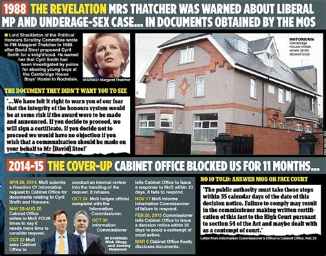 country grammar mp maragaret thatcher knew about paedophile mp cyril smith