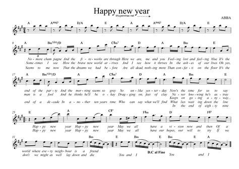 new year sheet happy new year 171 khuyến nhạc