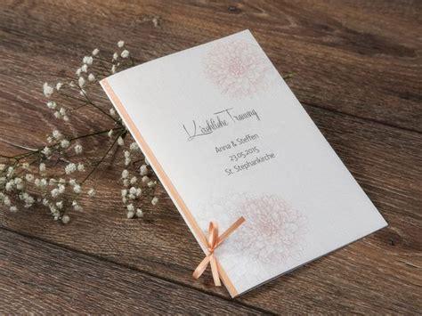 Hochzeitskarten Apricot by Die Besten 17 Ideen Zu Kirchenheft Auf