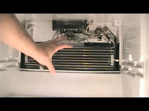 how to replace the defrost thermostat in a refrigerator