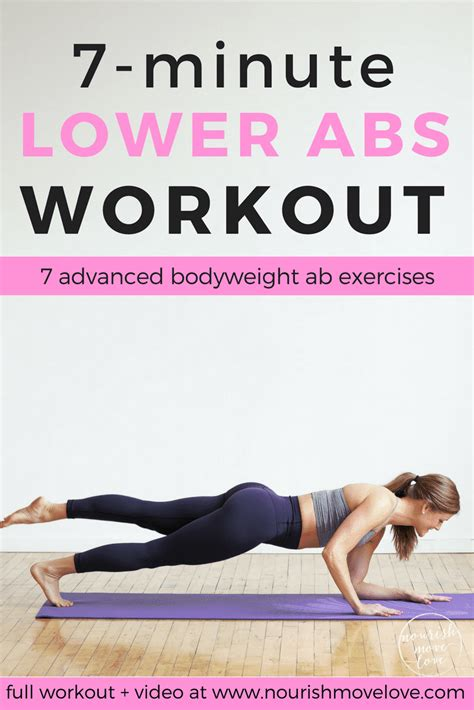 7 minute abs workout for nourish move