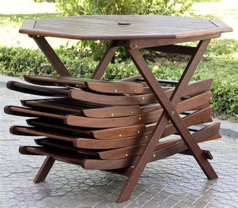Wood Patio Table Set Outdoor Furniture 5pc Folding Outdoor Wood Patio Dining Set Review
