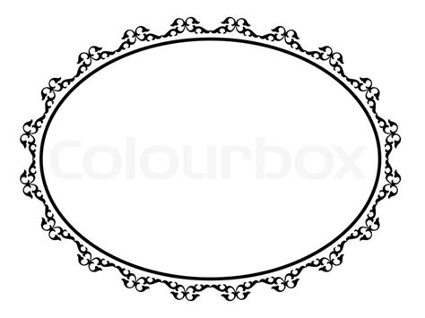 oval ornamentalen dekorativen rahmen stock vektor
