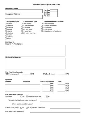 department plan template pre plan form fill printable fillable blank