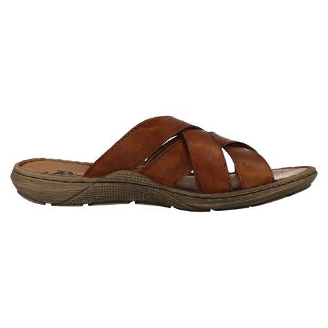 leather mule sandals mens rieker leather slip on cross mule sandals 22098 ebay