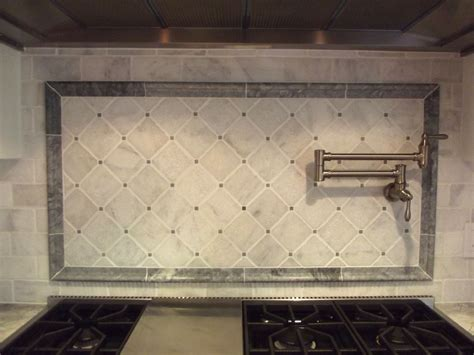 Kitchen Marble Backsplash Carrara Marble Backsplash Homesfeed
