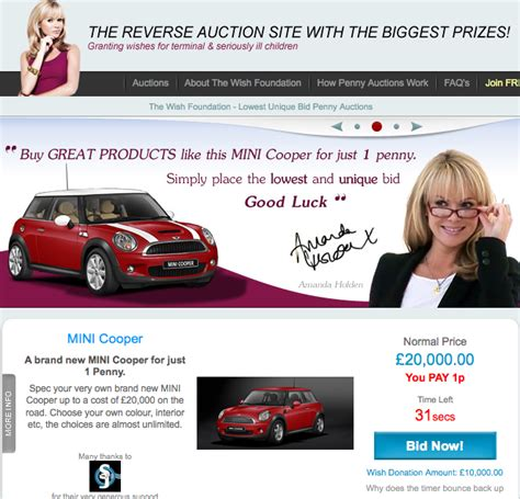 lowest unique bid a lowest unique bid auction to help terminally ill