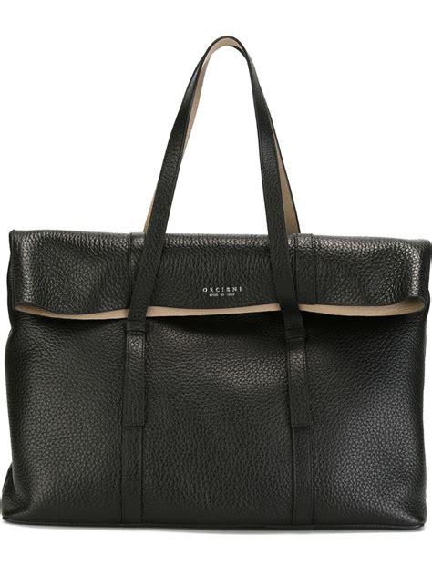 Rectangular Bag lyst orciani large rectangular tote in black