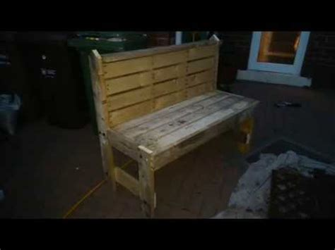 how to make your own bench how to build your own garden bench out of pallets step by