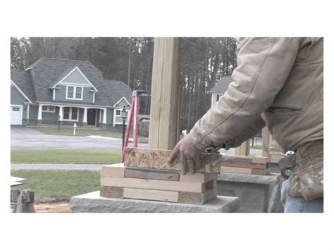 Front Porch Awning Barone Amp Sons Creating Craftsman Columns Youtube