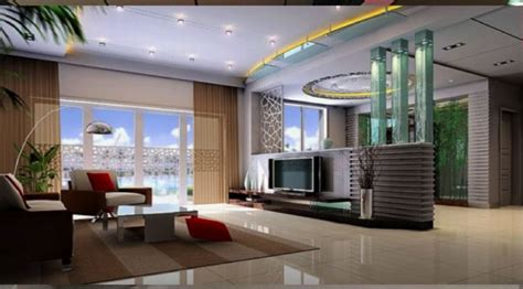 modern contemporary living room  hall wall
