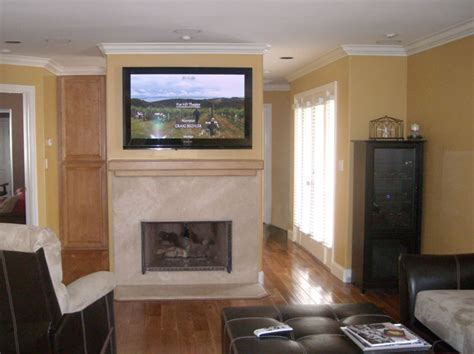 Installing A Tv A Fireplace by How To Install A Tv Above A Fireplace And Hide The Wires