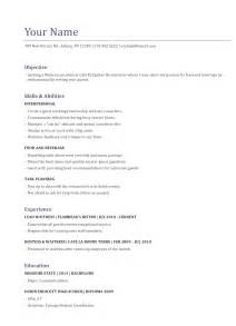 pin waiter resume template on