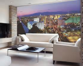 wall murals living room vegas lights c836 wall mural
