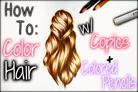 how to color hair drawing tutorial how to color hair w copics colored