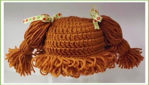 cgrochet cabich patch hair hat pattern cabbage patch hat pattern improved grow sew happy