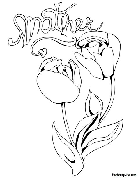 rose coloring pages pdf mothers day coloring pages roses coloring home