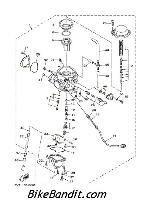 yamaha big 350 carburetor diagram raptor 350 carb atvconnection atv enthusiast community