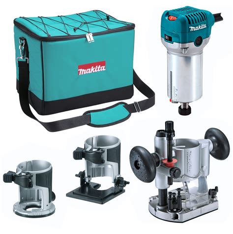 Router Trimmer makita rt0700cx2 1 4 router trimmer with trimmer tilt and plunge bases powertool world