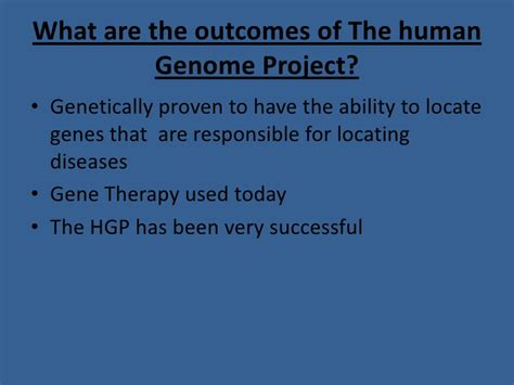 Essay About The Human Genome Project by Human Genome Project Essay
