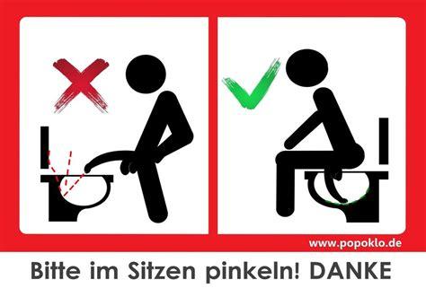 Aufkleber Toilettenordnung top bitte im sitzen pinkeln toiletten toilettenordnung