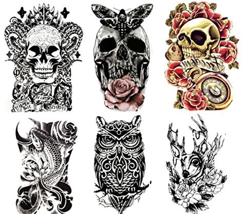 henna tattoo farbe amazon large non toxic temporary tattoos set of 6 tattoos
