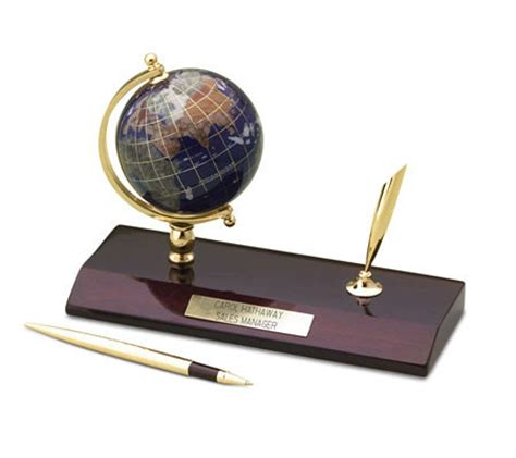 Personalized Desk Set by Things Remembered Personalized Jeweled Globe Desk Set