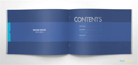 Blue Brand Book Free Template Download Graphics Webmaster Tips Brand Guidelines Template Illustrator