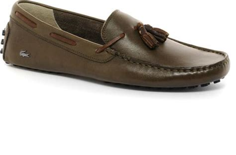 lacoste brown loafers lacoste concours tassel loafers in brown for lyst