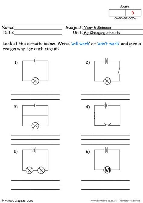 Circuits Worksheet by Simple Circuits For Worksheets Www Pixshark