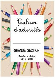 cahiers pages de garde objectif maternelleobjectif