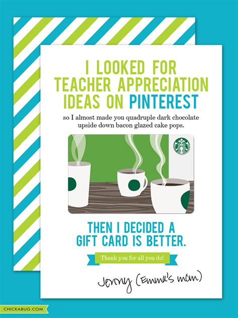 Teacher Appreciation Printables For Gift Cards - teacher appreciation gift card printables
