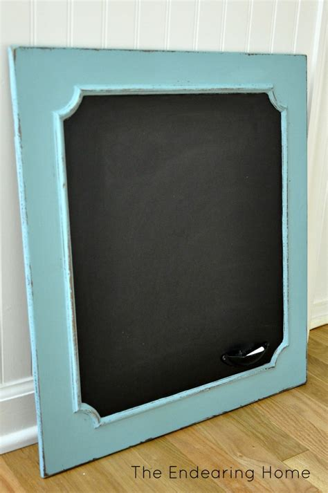 Rejuvenate Wood Cabinets by Turn An Wood Cabinet Door Into A Chalkboard Could