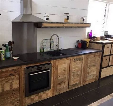 diy recycled pallet kitchen furniture inspired pallet kitchen cabinets ideas pallets designs