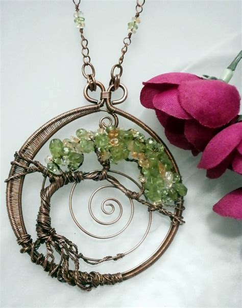 Handmade Wire Wrapped Jewelry - perfectly twisted handmade wire wrapped beaded and