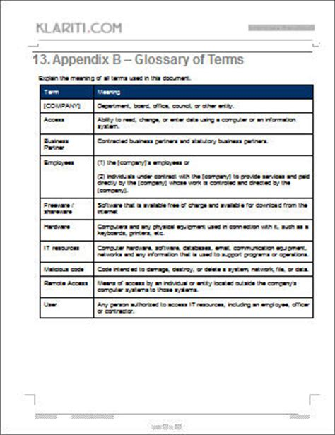 staff policy template employee handbook template ms word excel