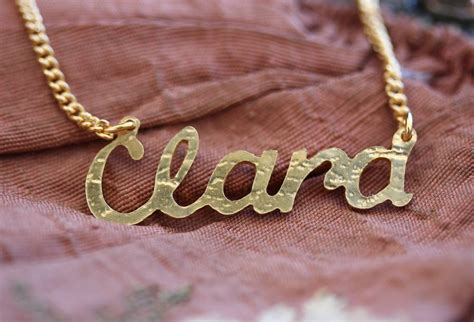Handmade Name Necklace - handmade gold plated name necklace by jemima lumley