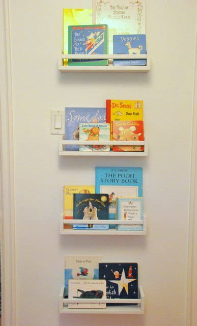 how to use spice racks for books or the easiest diy