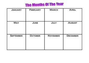month template printable months of the year calendar template 2016