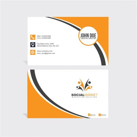 orange and black business card psd design techfameplus black and orange business card psd file free download