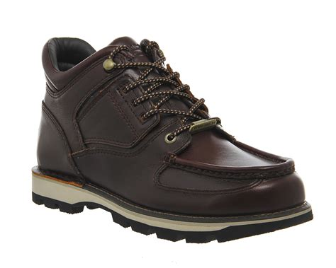 mens rockport umbwe boots brown leather boots ebay