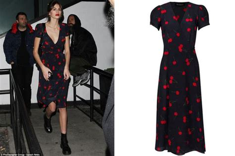 kaia gerber cherry dress spring style inspired by kaia gerber tbo blog the