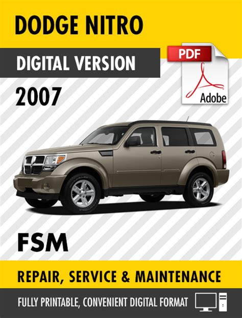 2007 dodge nitro service manual 2007 dodge nitro repair manual