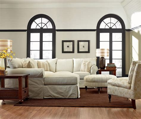 living room furniture configurations klaussner slip cover sectional sofa with left chaise dunk bright furniture sectional